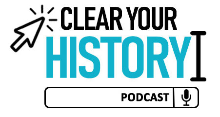 Logo for Clear Your History Podcast